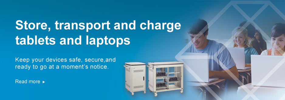 Store, transport, and charge tablets and laptops