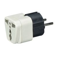 Power Plug Adapter - US to Europe, Middle East, Africa, Asia, & South America