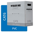 CAT6 Bulk Cable UTP 250MHz Solid PVC, Black Box Connect