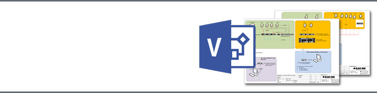 Download gratis Black Box stencils voor Microsoft Visio®